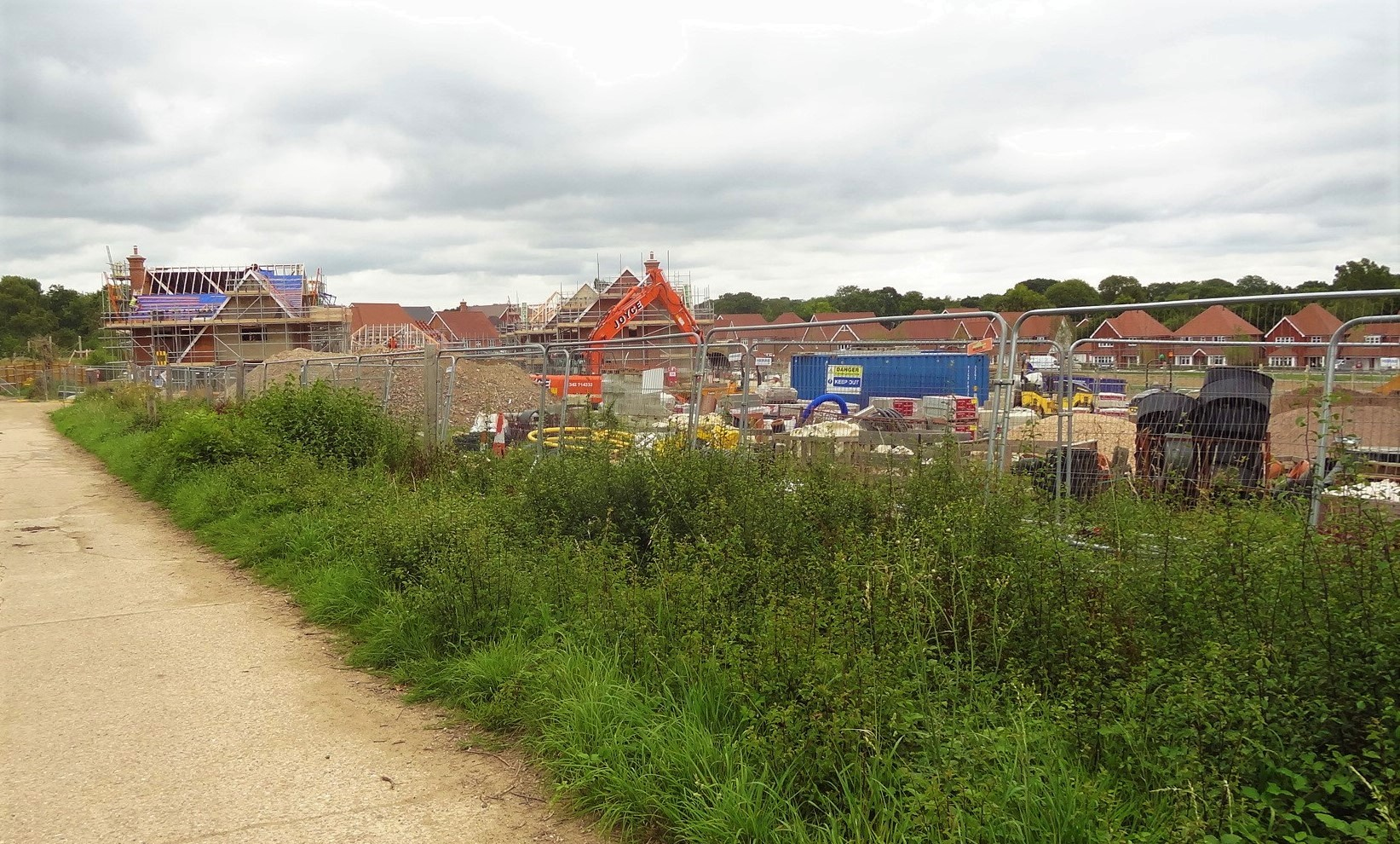 Residential Construction site, UK countryside